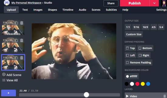 online video slideshow maker