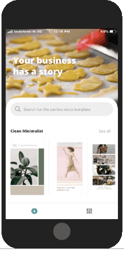 pick free templates to customize stories