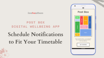 Schedule Notifications for Specific Time with Post Box Digital WellBeing App