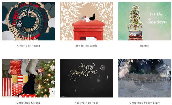 send personalized Christmas ecards