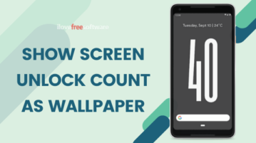 Show Screen Unlock Count as Wallpaper on Android
