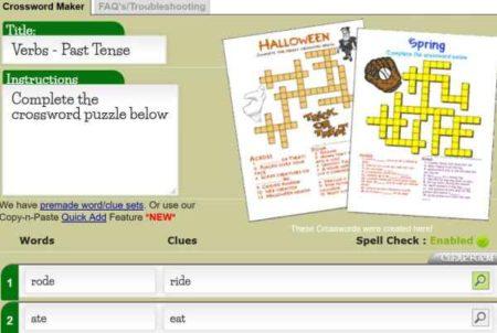 11 Free Online Crossword Puzzle Maker Websites
