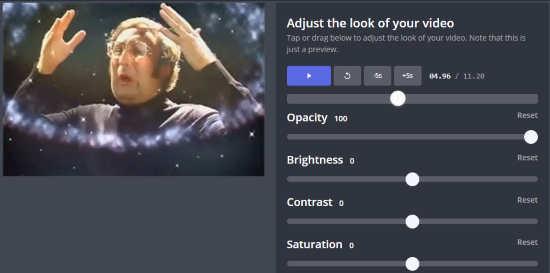 use flexible tools to create video slideshow