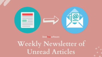 Weekly Email of Bookmarked Unread Articles