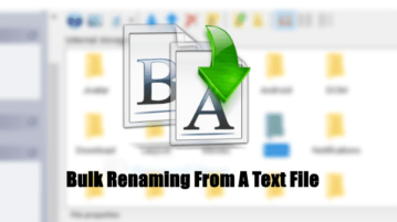 Bulk Rename Files Using Text File with this Free File Renamer