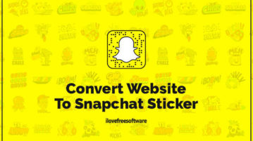 Convert Website To Snapchat Sticker