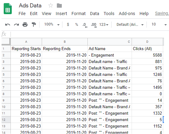 How to Automatically Export Facebook Ads Data to Google Sheets