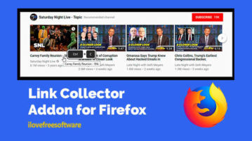 Link Collector Addon for Firefox