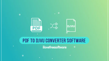 PDF to DJVU Converter Software
