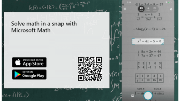 Solve Math Equations by Taking Pictures with Microsoft Math