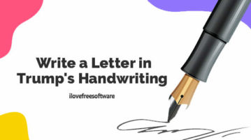 Write a Letter in Trump's Handwriting