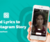 add lyrics to Instagram story