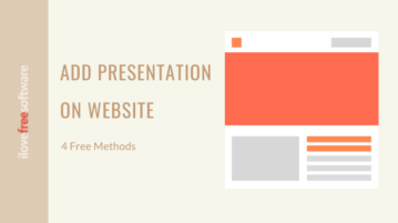 How to Embed Presentation on Website?