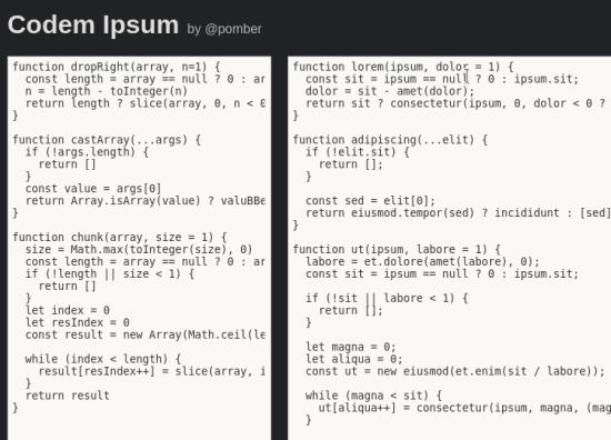 codem ipsum