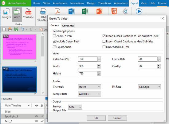 convert PowerPoint to MP4