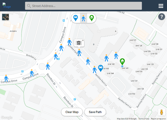 share whereabouts with custom route guidance map