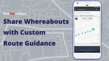 Create Custom Route Guidance Map to Share Your Whereabouts