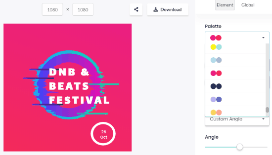 design tool to create social media designs