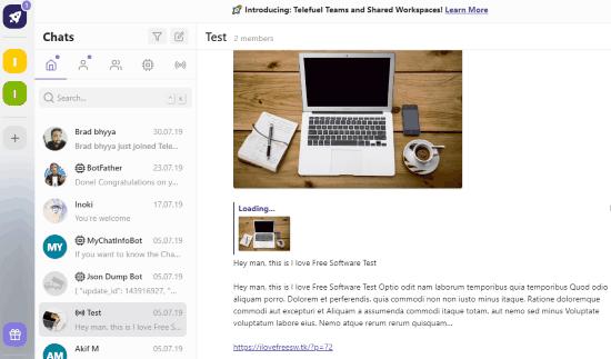 free desktop app for Telegram