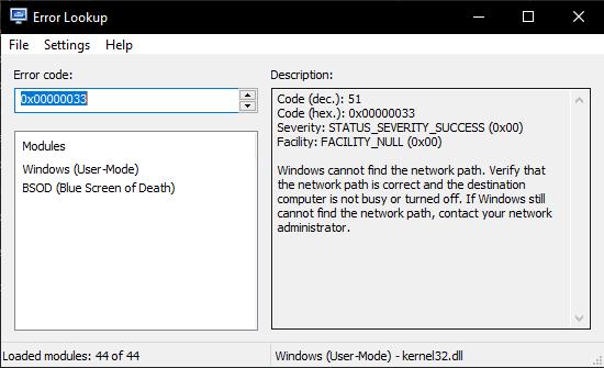 decode windows error codes offline