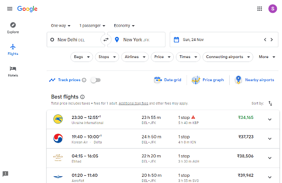 find cheaper flights with Google Flights