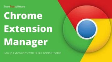 Group Chrome Extensions to Enable/Disable Multiple Extensions At Once