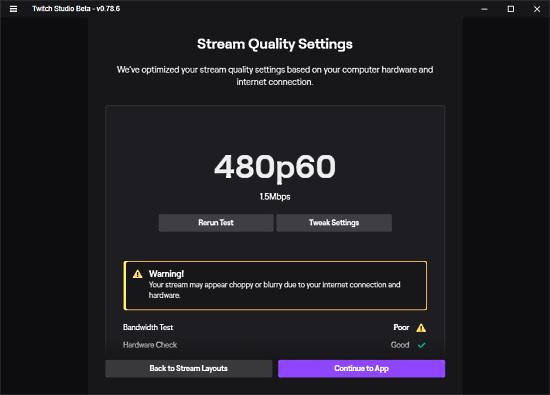 new twitch studio stream configurations