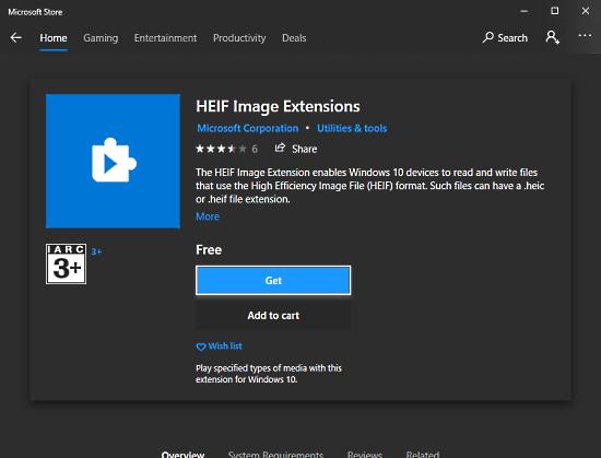 heic heif plugin for Windows 10