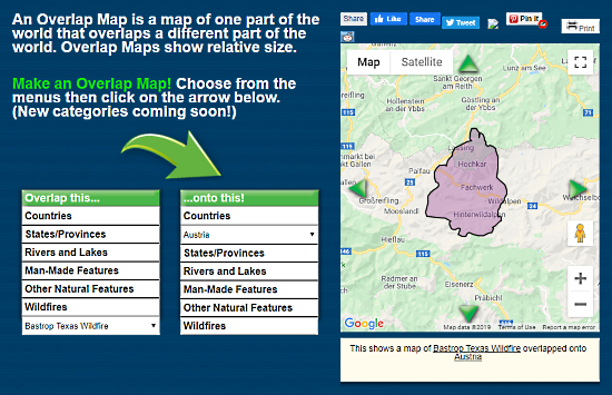 visually compare maps