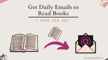 Read Books Page by Page by Getting Daily Emails