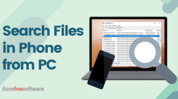 How to Search Files in Android Phone from PC?
