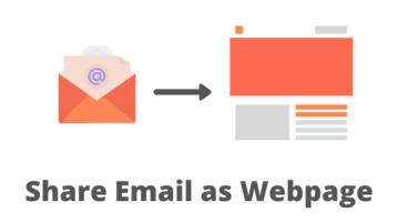 How to Share Email as Webpage with Anyone?
