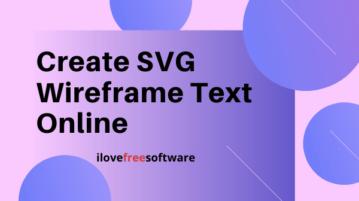 Create SVG Wireframe Text Online