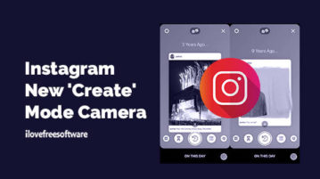Instagram New 'Create' Mode Camera