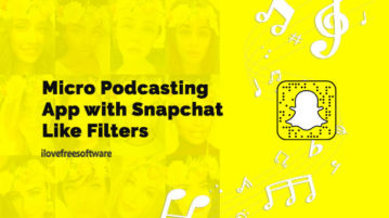 Micro Podcasting App with Snapchat Like Filters
