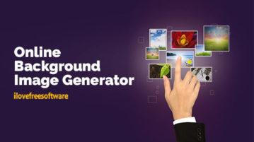 Online Background Image Generator
