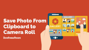 Save Photo From Clipboard to Camera Roll
