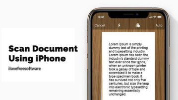 Scan Document using iPhone