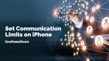 Set Communication Limits on iPhone