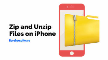 Zip and Unzip Files on iPhone