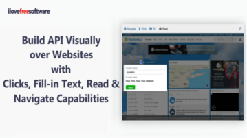 Build API for Any Website Visually with Clicks, Fill-in Text Capabilities
