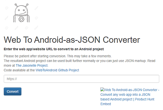 convert website to android app