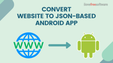 Convert Any Website into JSON-based Android App Project For Free