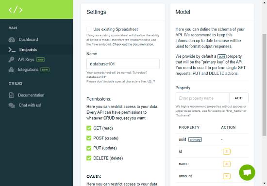 Jak utworzyć RESTful JSON API przy użyciu Arkuszy Google jako bazy danych 1