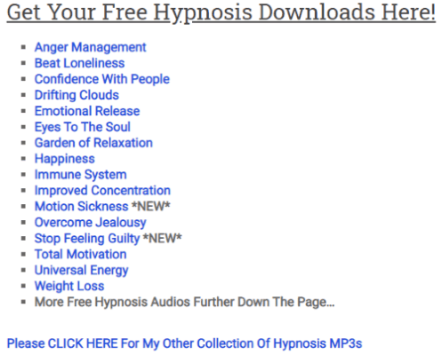 download free hypnosis