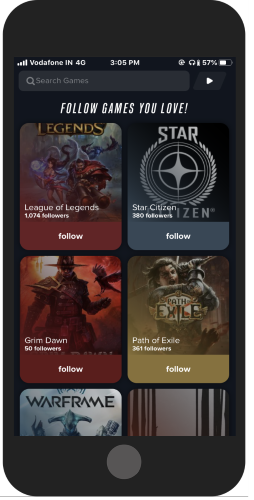 follow the top games and gamers