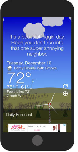funny weather apps for iPhone