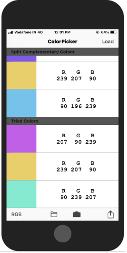 get color combinations with this color picker app