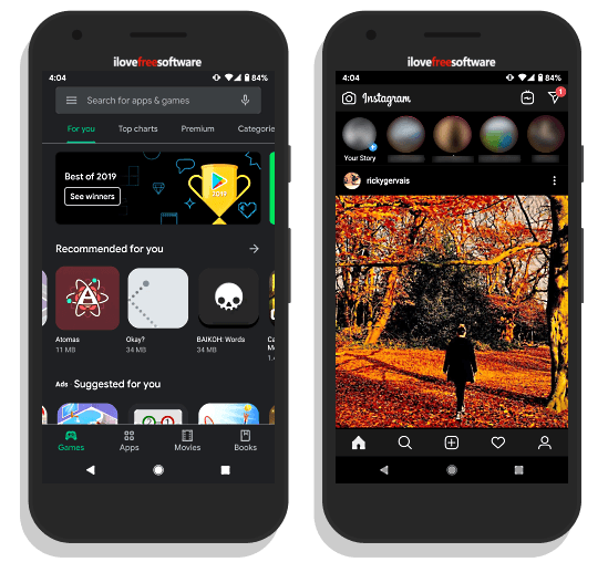 dark mode on android nougat