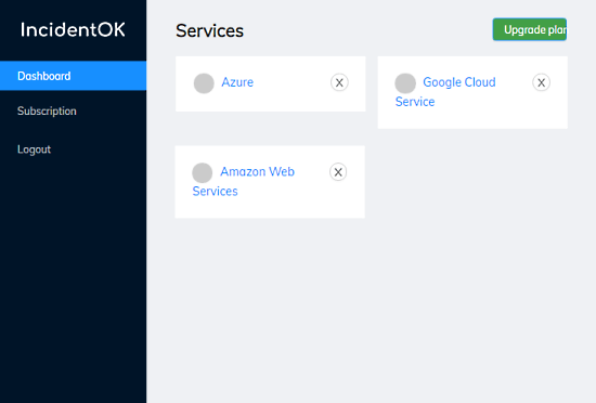 get alerts when outage of aws, github, google cloud, azure, etc